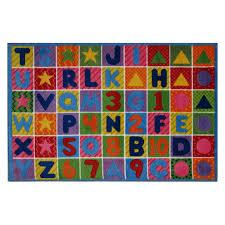 Colorful Kids Rugs by Fun Rugs Numbers And Letters Kids U0027 Rug Walmart Com