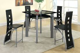 high chair dining table inspiring black painted glass dining table