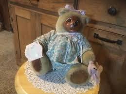 Wooden Faced Teddy Bears Pre Owned Robert Raikes Originals Courtney Bear Wooden Face