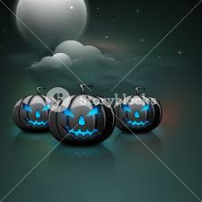background for halloween banner or background for halloween party with scary pumpkins on
