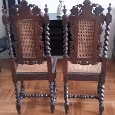 chaises louis xiii paire de chaises paillées de style louis xiii du 19 ou 20 ème siècle