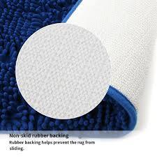vdomus non slip microfiber shag bath mat bathroom mats shower rugs