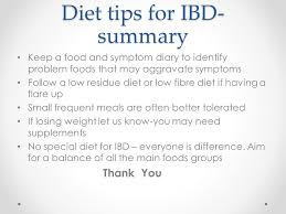 inflammatory bowel disease and diet question and answers ppt
