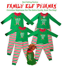 christmas elf pyjamas mum dad little big boy elves family