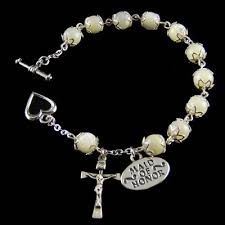 wedding rosary wedding rosary bracelet of pearl rosary bracelet