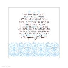 bridal shower gifts registry wedding invitation wording registry new wording for gift registry