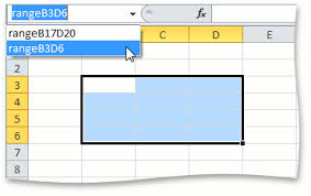 how to create a named range of cells spreadsheet document
