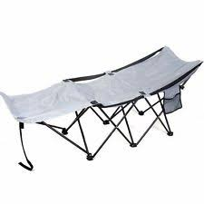 Folding Camp Bed Outsunny Deluxe Folding Camping Cot With Carrying Bag Green Ebay