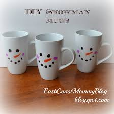 diy snowman mugs sharpies snowman and dollar stores