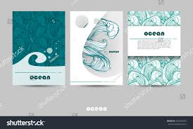 100 storm at sea template hand drawn water waves sea line