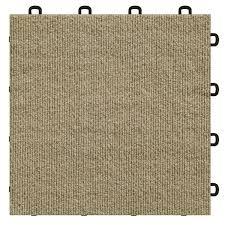 Carpet Tiles For Basement - interlocking carpet tile beige made in the usa