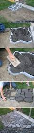 How To Make A Rock Patio by How To Make A Cobblestone Path Stepping Stones Pinterest