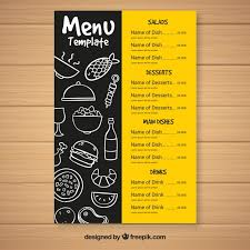 menu template fast food menu template vector free