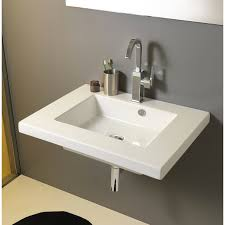 wall mounted sink vanity tecla mar01011 by nameek s mars rectangular white ceramic wall