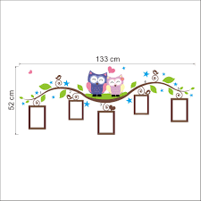 owls photo frame wall stickers home decoration bedrrom animals