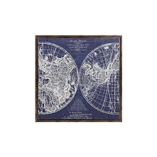 Framed World Map by Home Decorators Collection 34 In X 34 In