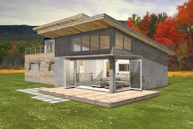 shed style house passive solar design with a roof deck upstairs