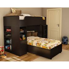 Black Wooden Bunk Beds Furniture Black Wooden Loft Bed With Storage Drawer Ang Book