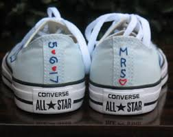 wedding shoes converse wedding converse etsy