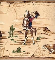 amazon com single rolls cowboy peel u0026 stick wallpaper border