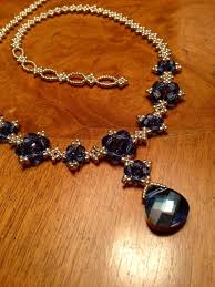 swarovski crystal chain necklace images Best 25 blue necklace ideas geode necklace blue jpg