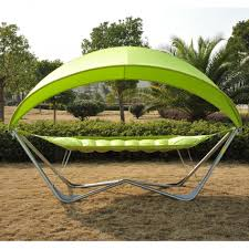 Outdoor Swing With Canopy Patio Swing With Canopy Black Metal Frame Weather Resistant Sand