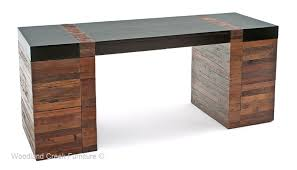Modern Desks With Drawers Modern Rustic Desk Contemporary Wood Office Desk Desk