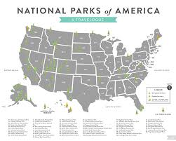 National Parks Map Usa by South Pointing Fish U2014 Hello Jen