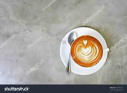 top view coffee latte latte stock photo 718476211 shutterstock