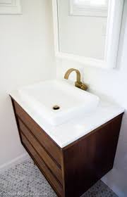 Modern Bathroom Faucets And Fixtures by Bathroom Wall Mounted Wood Vanity With Modern Bathroom Sinks Also