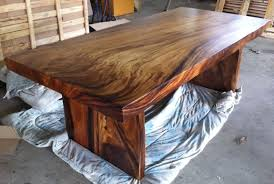 wood slab dining table roma