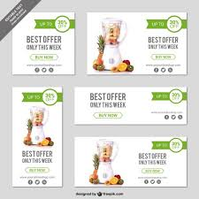 online store banner templates vector free download