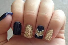 17 beautiful blue and gold nail art designs