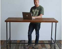 Steel Pipe Desk by Standing Pipe Desk Etsy