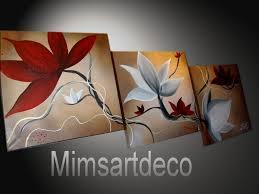 Tableau Triptyque Contemporain by Pinterest Peindre Des Fleurs Peinture Fleur Rouge Tableaux