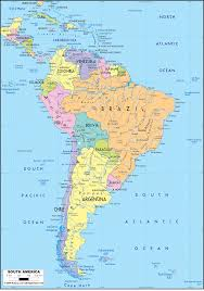 Political Map Us Political Map Of South America