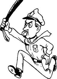 policeman running coloring page wecoloringpage