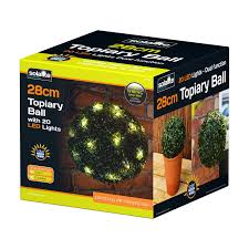 Pre Lit Topiary Solalite 2 X 28cm Pre Lit Solar Powered Topiary Ball Dual