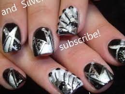 nail art designs black and silver mailevel net