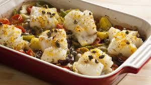 one pan mediterranean roasted fish dinner recipe bettycrocker