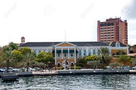 yellow colonial style house in willemstad curacao in the
