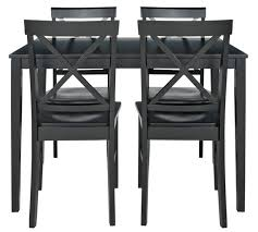 Buy HOME Jessie Dining Table   Solid Wood Chairs Black At - White and black dining table