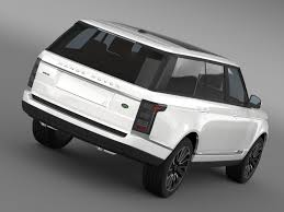land rover autobiography white range rover autobiography lwb l405 2014 by creator 3d 3docean