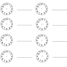 free telling time worksheet to the hour match the digital time