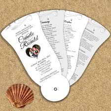 petal fan wedding programs c wedding petal fan programs s5 stewy s greetings