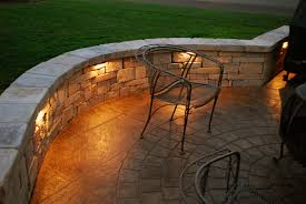 Lighting For Patios Adding Lights Into Sitting Wall Outdoor Spaces Pinterest