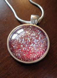 diy necklace pendants images Diy glitter pendant make something mondays jpg