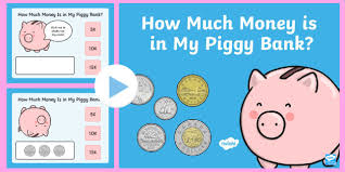 how much money is in my piggy bank powerpoint game canada ks1