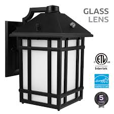Outdoor Sconce Light Led Photocell Led Outdoor Wall Lantern With Dusk To Dawn Photocell 14w 60w Equiv