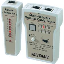 voltcraft ct 2 cable tester suitable for rj 45 bnc rj 11 from